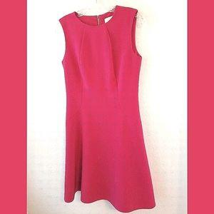Kate Spade Pink Sleeveless Fit N Flare Dress Sz 6